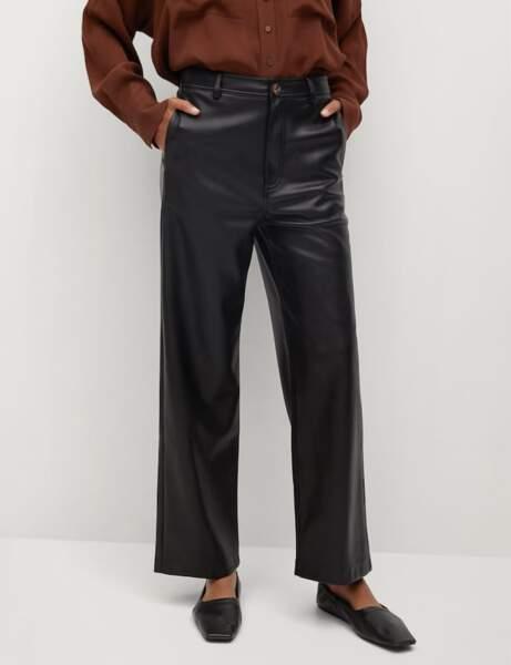 Nouveautés Mango : pantalon en cuir