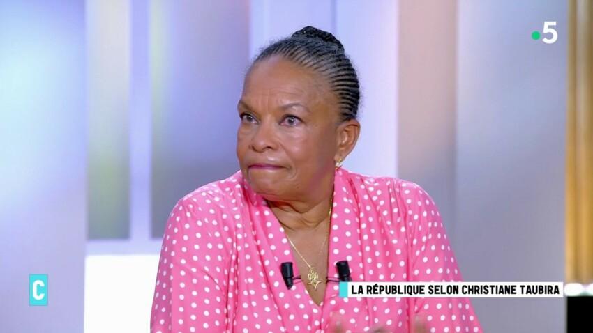 """""""C l'hebdo"""" : Christiane Taubira fond en larmes en direct"""