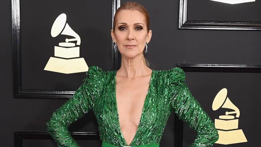 Céline Dion irrésistible en robe fendue moulante et toute pailletée (wow !)