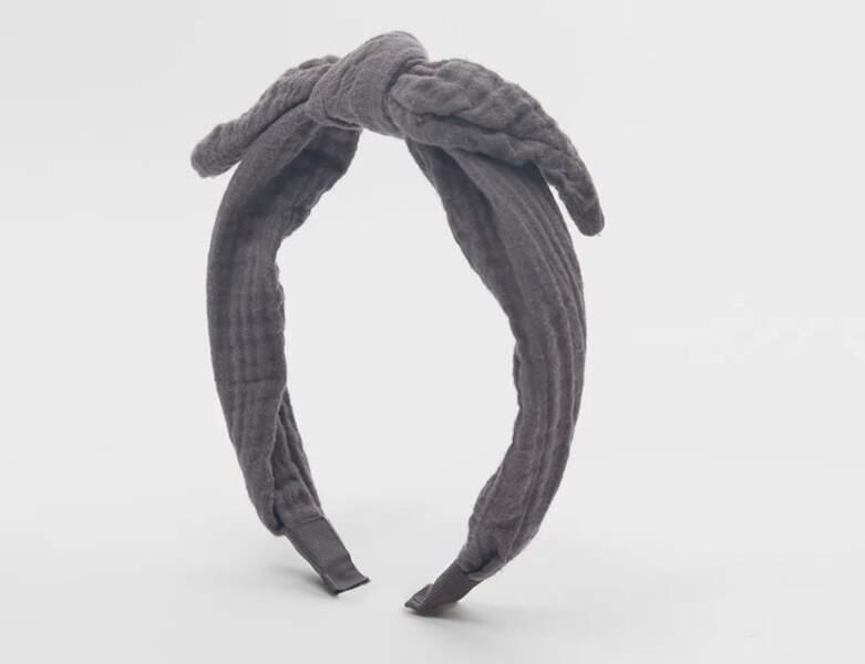 Serre-tête texturé à noeud
