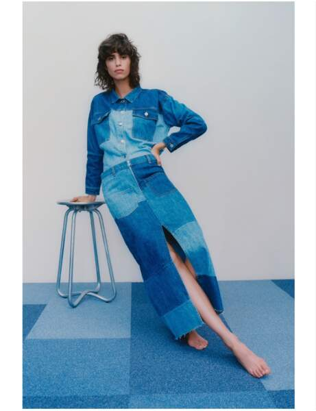 Jupe longue : en jean
