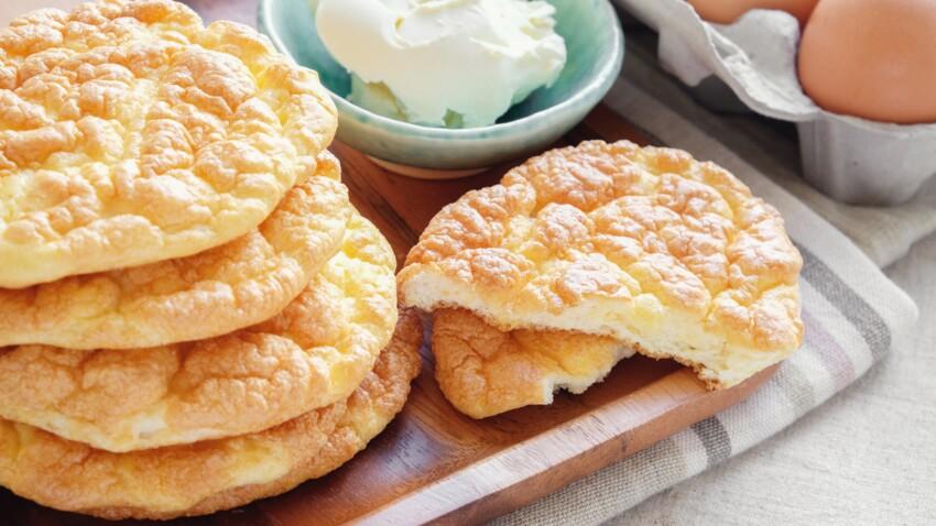 """Cloud bread : la recette du """"pain nuage"""" ultra faible en calories à grignoter sans culpabiliser"""