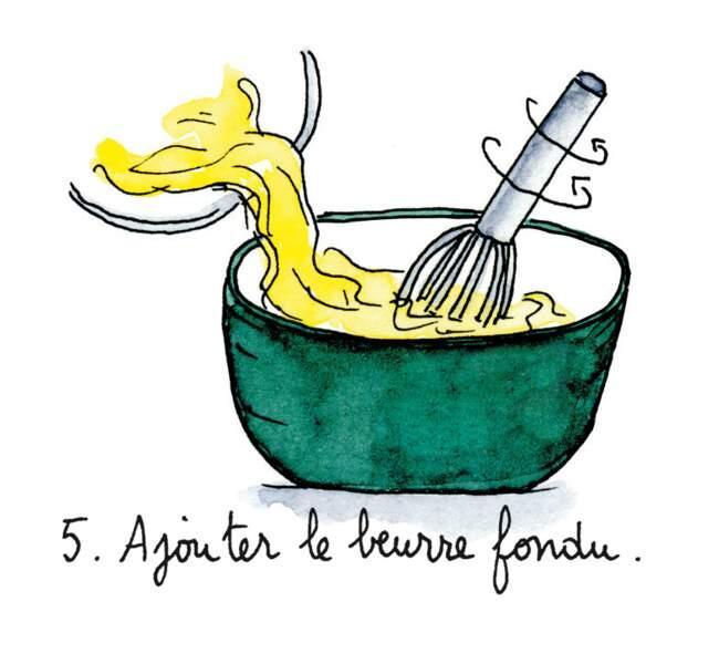 Etape 5 : ajouter le beurre