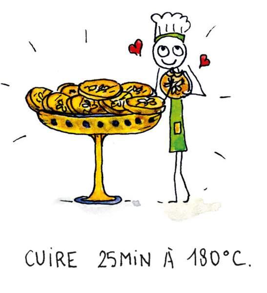 Etape 8 : 25 minutes de cuisson à 180°.