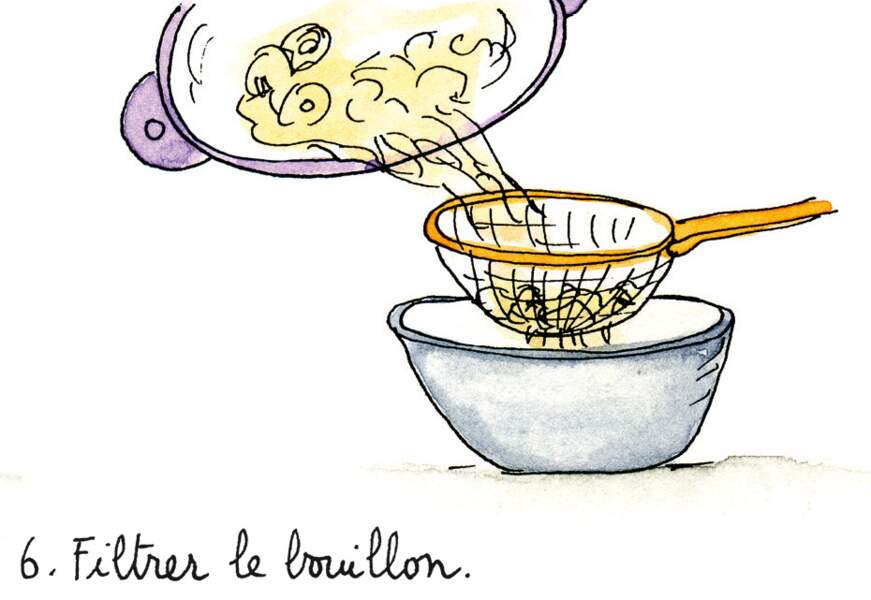 Etape 6 : filtrer le bouillon