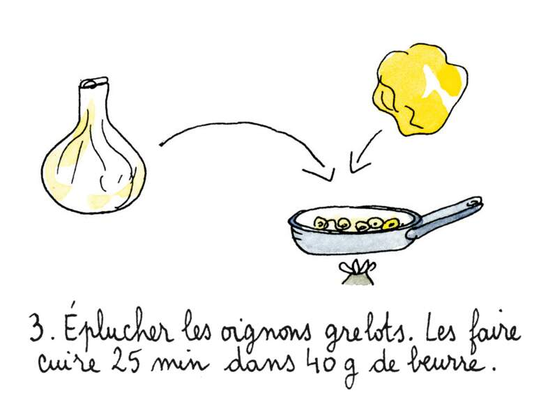 Etape 3 : faire dorer les oignons