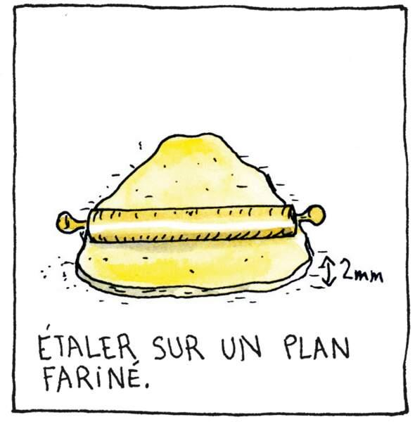 Etape 3 : étaler la pâte