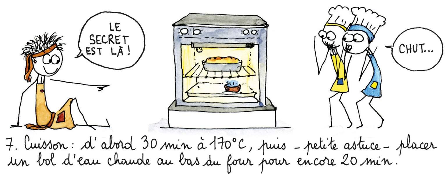 Etape 7 : la cuisson