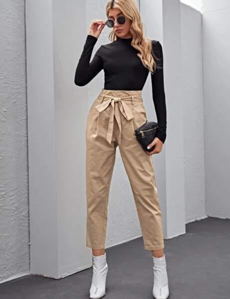 Pantalon à moins de 30 € : ceinturé