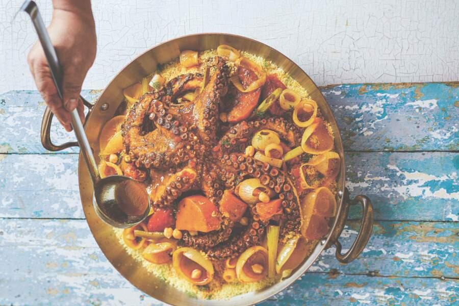 Couscous d'hiver au poulpe