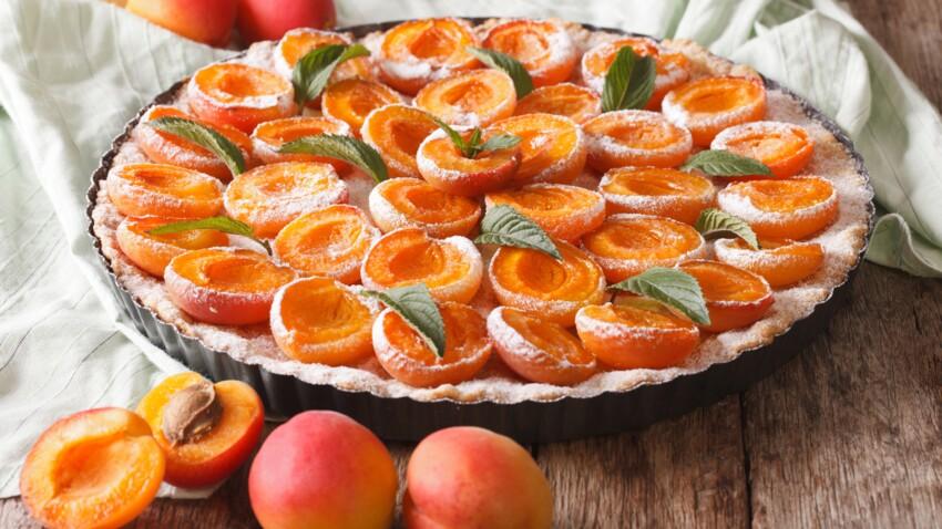 Tarte aux abricots sans crème
