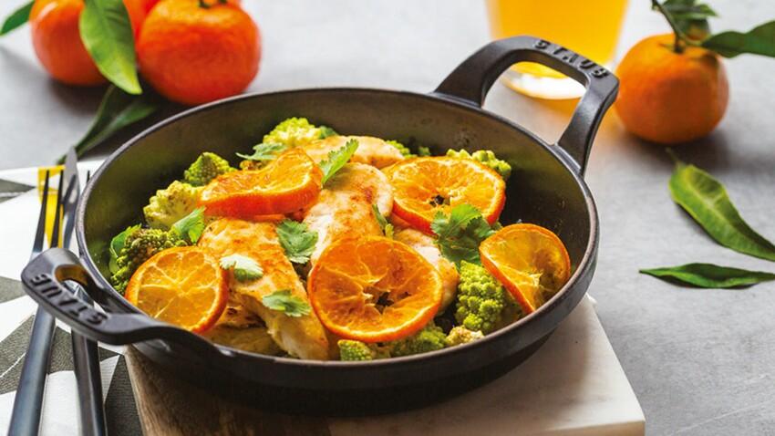 Flexi'lunch au poulet, chou romanesco et clémentines de Corse IGP