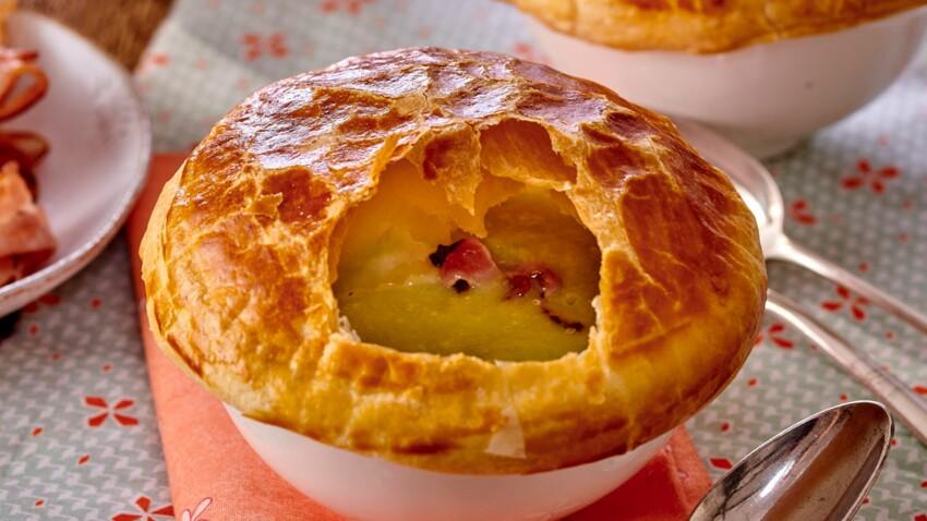 Soupe de poireaux-pommes de terre en croûte