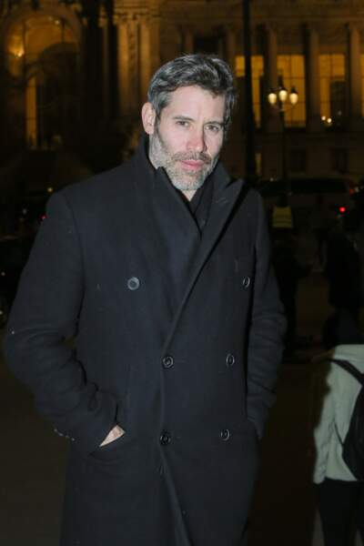 """Le 20 janvier 2017, l'acteur et réalisateur a assisté au défilé de mode """"Berluti"""", collection Hommes Automne-Hiver, au Grand Palais, à Paris."""