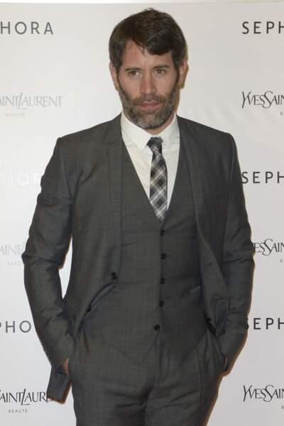 """Jalil Lespert à l'avant-première du film """"Yves Saint Laurent"""" qu'il a réalisé, présenté à Milan, le 17 mars 2014."""