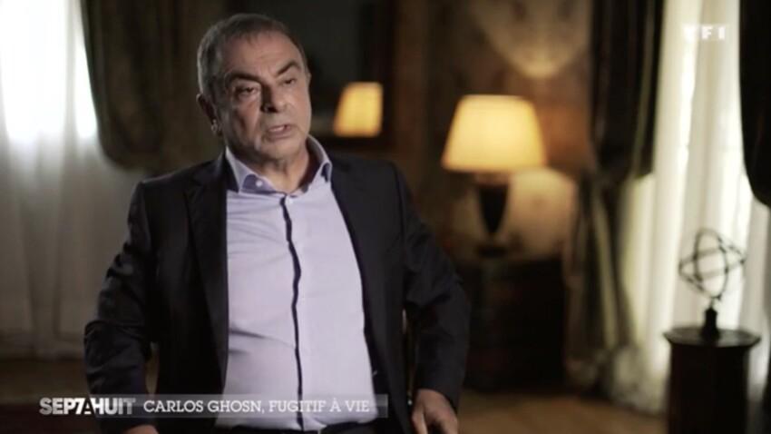"""Carlos Ghosn, """"fugitif à vie"""" dans """"Sept à Huit"""" : son interview sur TF1 choque les internautes"""