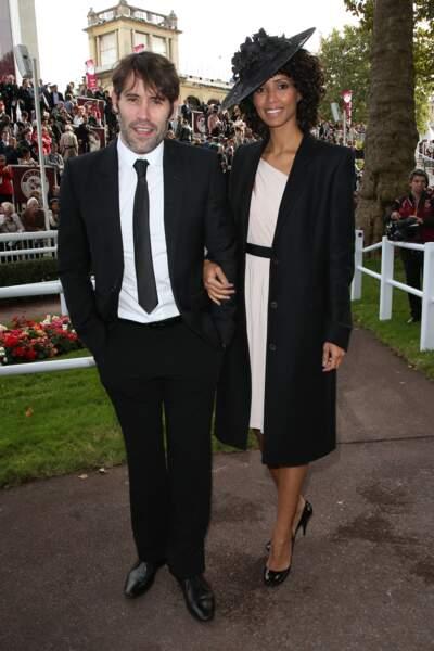 Jalil Lespert et Sonia Rolland à la 91ème édition du Prix de l'Arc de Triomphe 2012, à l'hippodrome de Longchamp, le 7 Octobre 2012.