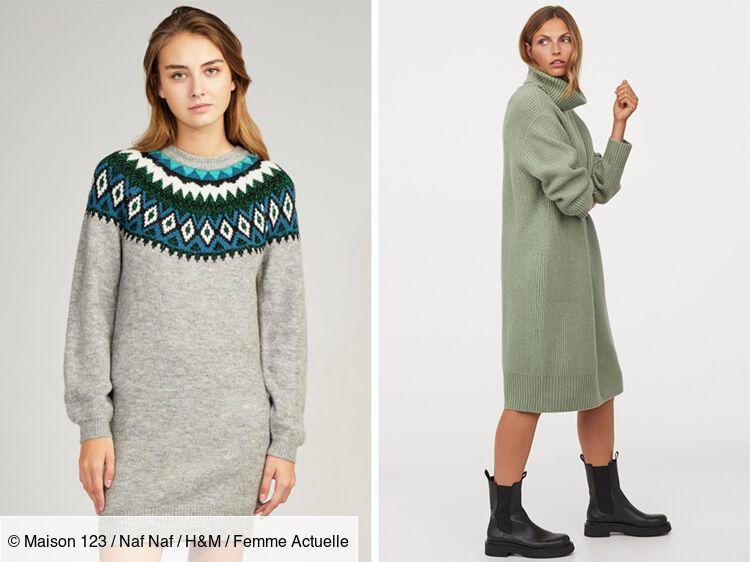 Robe Pull 15 Modeles Canons Et Ultra Confortables A Shopper En Ligne Femme Actuelle Le Mag