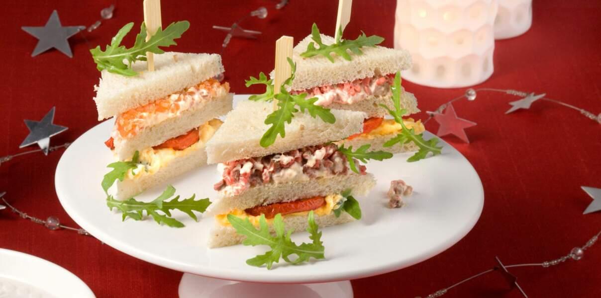 Bélier : des petits fours salés de Noël façon club sandwich