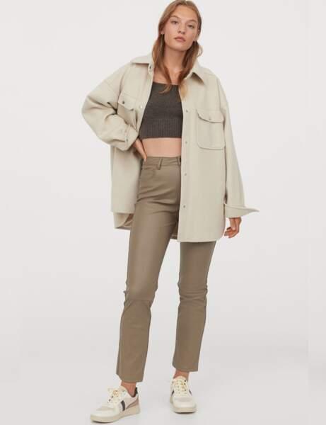 Pantalon en cuir : le 5 poches nude