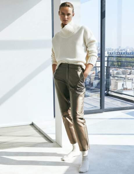 Pantalon en cuir : le modèle glam'
