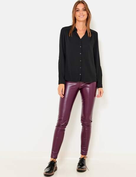 Pantalon en cuir : le tregging sexy