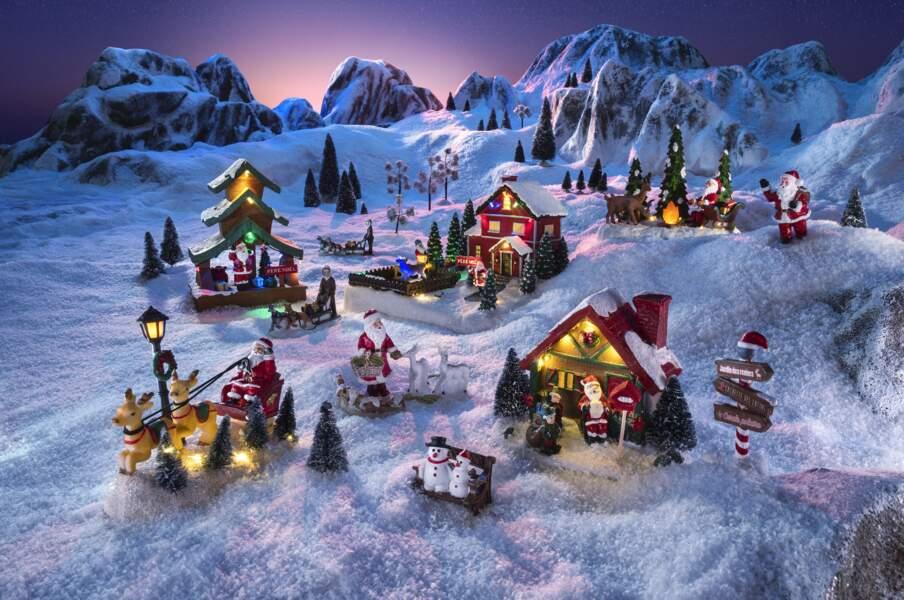 Décorations village de Noël