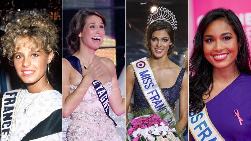 """Miss France"" : Nathalie Marquay, Laury Thilleman, Iris Mittenaere, Clémence Botino... les photos d'un siècle de Miss France"