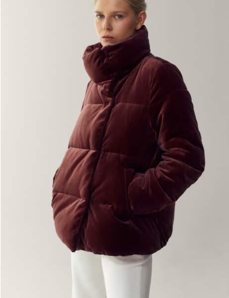 Manteau matelassé : en velours