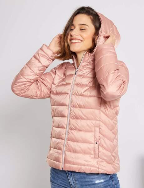 Manteau matelassé : à capuche