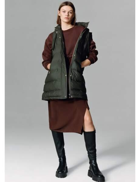 Manteau matelassé : sans manches