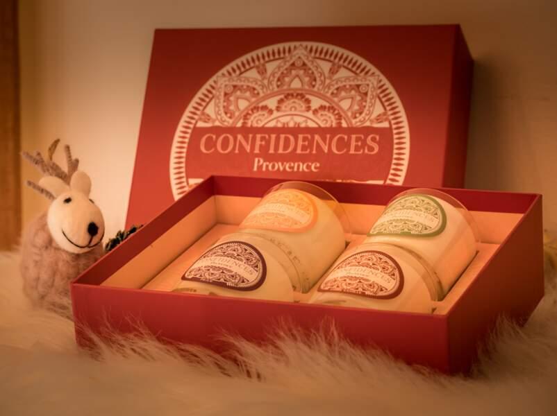 Confidences Provence : coffret bougies