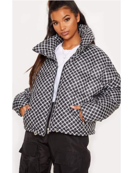 Manteau matelassé : à carreaux