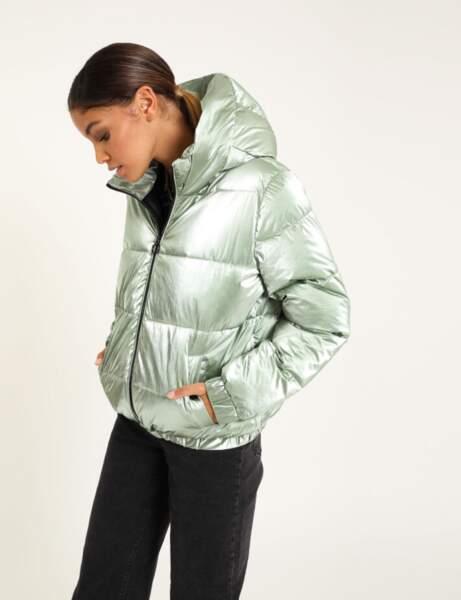 Manteau matelassé : métallisé