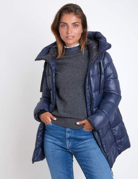 Manteau matelassé : bleu marine