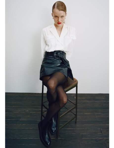 Nouveautés Zara : short en cuir