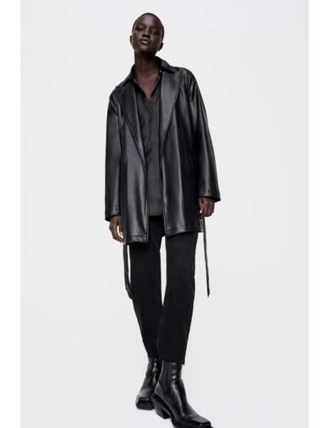 Nouveautés Zara : veste en cuir