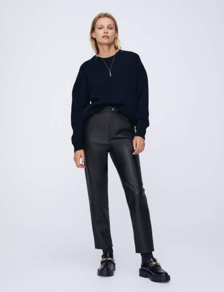 Nouveautés Zara : pantalon en cuir