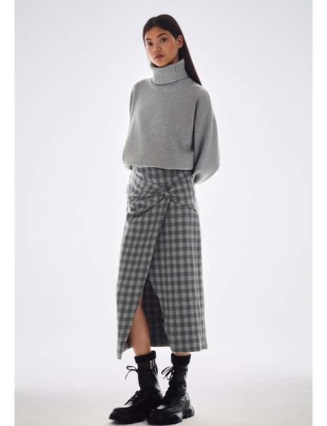 Nouveautés Zara : jupe à carreaux