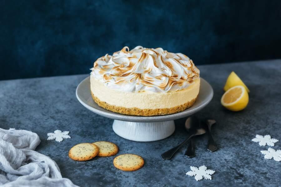 Cheesecake citron meringué aux Fines Galettes Citron Pavot Gavottes