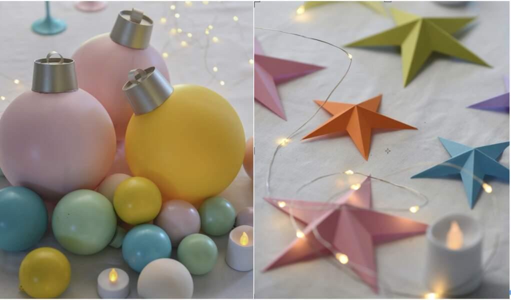Déco de Noël multicolore : nos tutos créatifs pour décorer la table