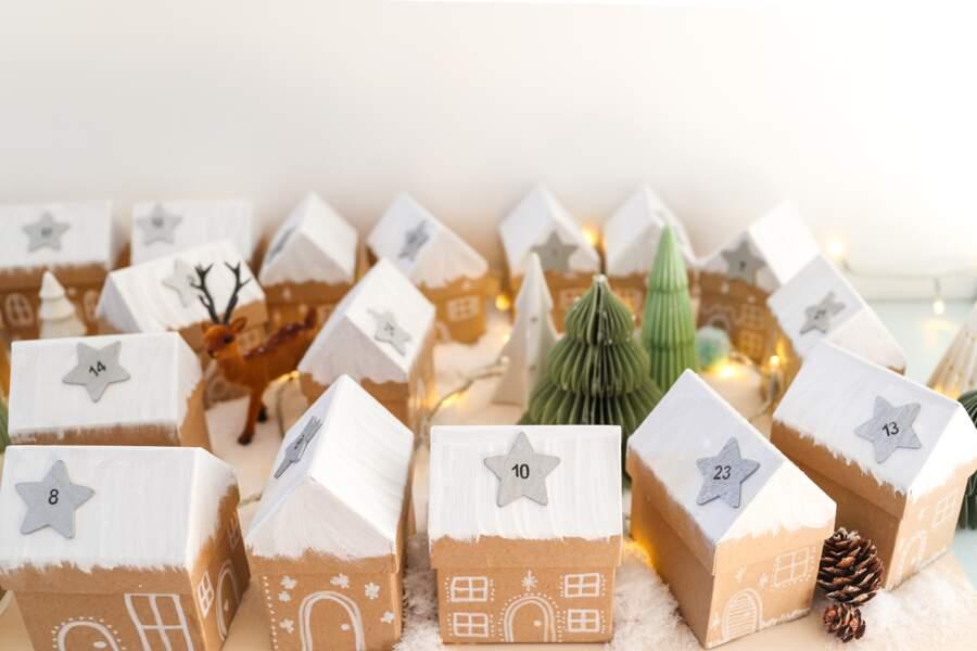 DIY Noël : un village enneigé