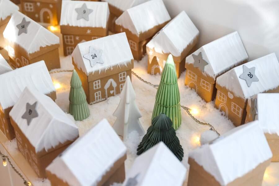 DIY Noël : un village enneigé pour décorer son intérieur