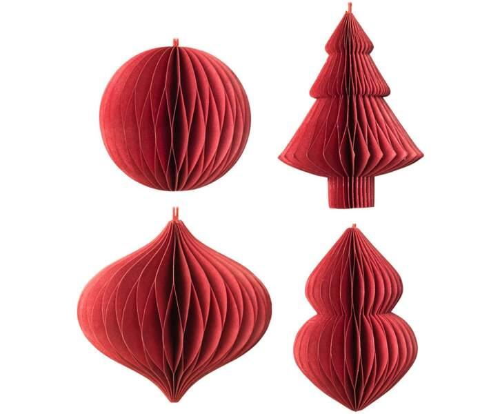 Ensemble de décorations de sapin de Noël