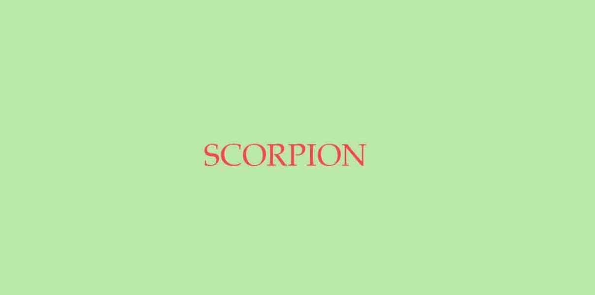 Menu de Noël pour le Scorpion
