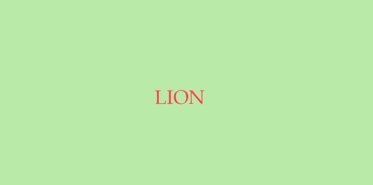 Menu de Noël pour le Lion