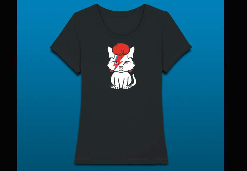 Un tee-shirt rock'n chat