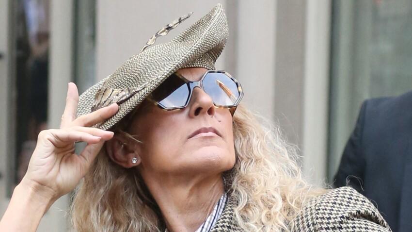 Céline Dion : oups, encore un look déjanté ! (jupe à franges sur jogging !)