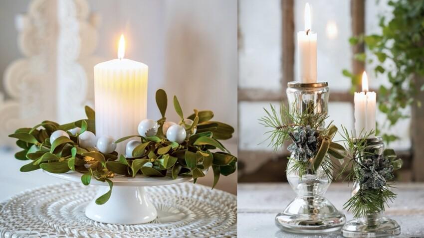 Déco express : 4 idées de dernière minute pour décorer sa table de Noël avec des bougies