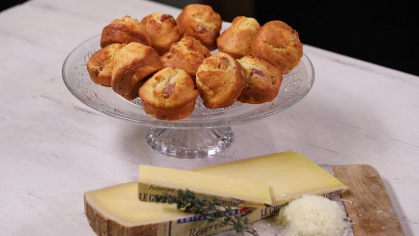 Muffins au Gruyère AOP Suisse et aux lardons
